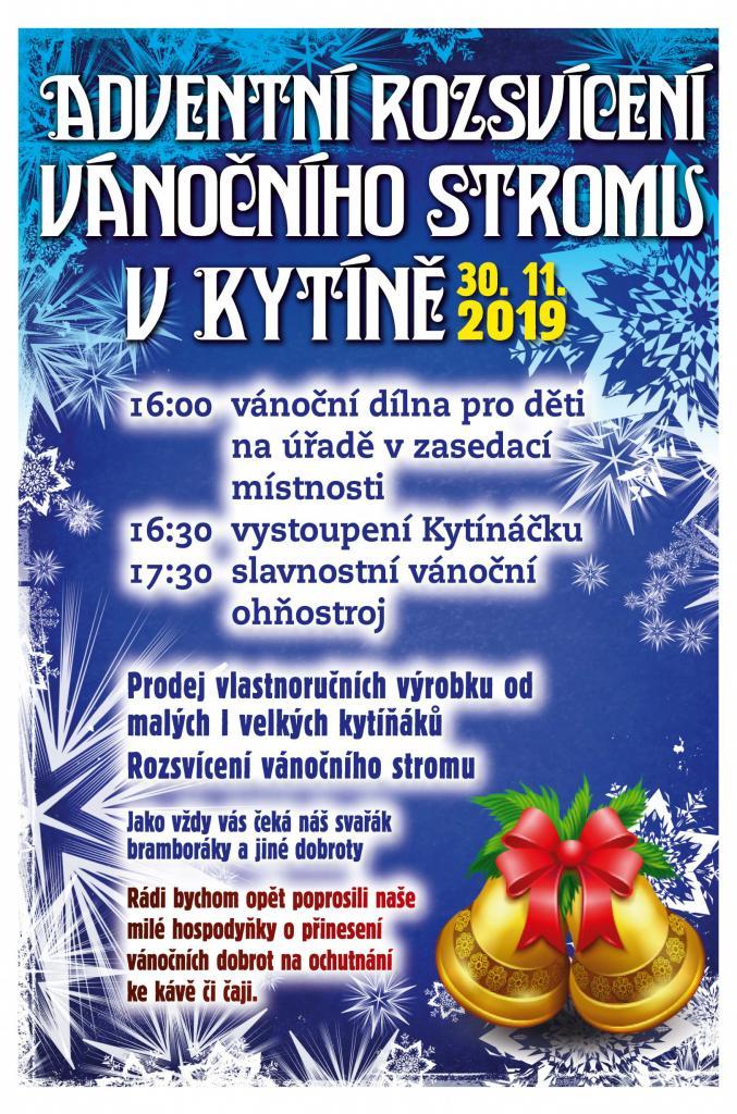 Rozsvícení vánočního stromu v Kytíně
